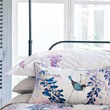 lilac floral bedding sanderson wisteria falls at bedeck 1951