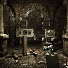 chambre des tortures chambre de médiévale illustration stock illustration du