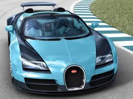 blue bugatti black and blue bugatti veyron super sport on the race track