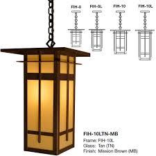 exterior hanging light fixtures arroyo craftsman fih finsbury mission exterior hanging light arr fih