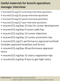 Operations Manager Resume Examples by Top 8 Branch Operations Manager Resume Samples