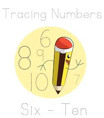 tracing numbers six to ten