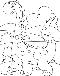 walking cute dino coloring printout download free walking cute