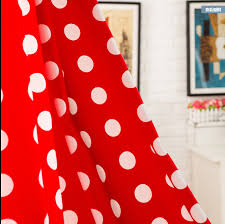Red Polka Dot Curtains Polka Dots Bright Red Curtains Inspired Living Room