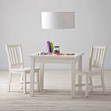 White Table Set - wooden play table u0026 chair sets the land of nod