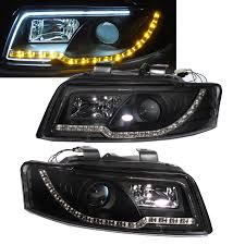 audi r8 headlights a4 s4 2001 2004 4d b6 8e projector led r8 headlight w amber black