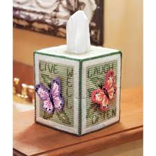 maxim butterfly tissue box cover plastic canvas kit
