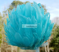 Tiffany Blue Flowers Tiffany Blue Feather Pompoms Kissing Wedding Balls Feather Balls