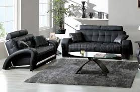 Black Tufted Sofa by Black Tufted Leather Sofa U0026 Loveseat W Silver Leather Accents