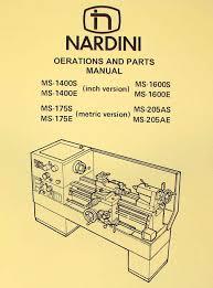 nardini lathe ms 1400s e 1600s e 175s e 205as e manual ozark