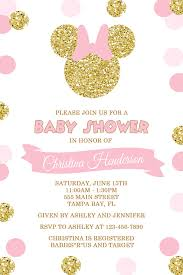 minnie mouse baby shower invitations pink and gold minnie mouse baby shower invitation gold minnie mouse
