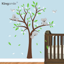 children wall stickers picture more detailed picture about modern koala tree wall stickers nursery art decals vinyls baby kids bedroom decor children s wall sticker