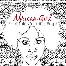 african coloring page coloring page african