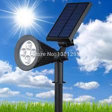Solar Panel Landscape Lighting 2018 Wholesale Led Solar Power Outdoor Garden Spot Light