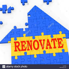 House Meaning by Renovate House Meaning Improve And Construct Building Stock Photo