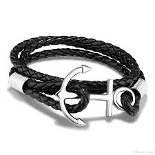 anchor braided bracelet images Hot sale jewelry fashion punk rock style simple elegant anchor jpg