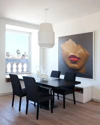 Charming Large Dining Room With A Beauitful Portrait Wall Art 136