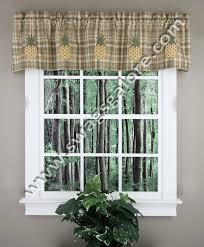 Sunflower Valance Kitchen Curtains Pineapple Lined Valance Multi Park Designs Lined Valances
