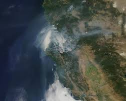 Wildfire Anderson Ca by Blanket Of Smoke From Northern California Fires Nasa