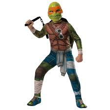 kids ninja halloween costumes teenage mutant ninja turtle movie deluxe michelangelo