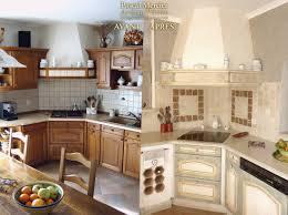 peindre meubles de cuisine ides de moderniser une cuisine en bois galerie dimages