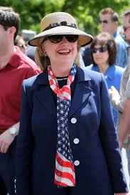hillary clinton marches in chappaqua memorial day parade ny