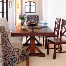 brilliant design trestle dining room table cozy dining table