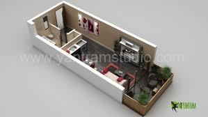 3d small home floorplan rendering by yantram animation studio