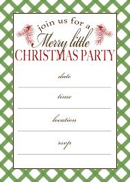 free printable christmas party invitations templates free