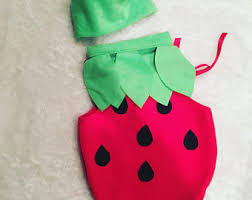 Strawberry Halloween Costume Baby Strawberry Etsy