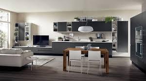 salon et cuisine moderne cuisine ouverte sur salon de design italien moderne kitchen design