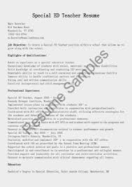 Special Education Teacher Resume Examples Of Special Skills For Acting Resume Example Of Acting