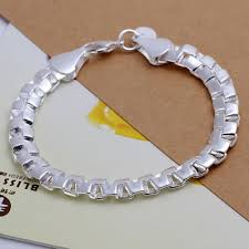 silver plated copper bracelet images Fashion copper double box boy bracelet with 925 sterling silver jpg