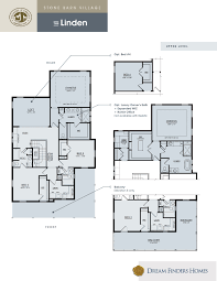 upper floor plan linden dream finders homes
