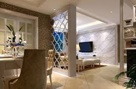 beauty living room partition using carved divider wall with modern
