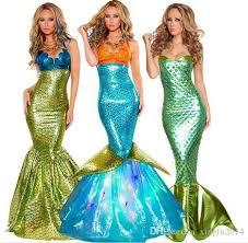 Mermaid Costume Halloween Sale Women Mermaid Costume Halloween Cosplay Mermaid Dress