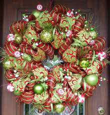 christmas deco mesh wreaths home
