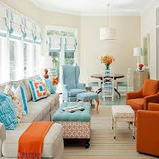 Best COLOR Orange Home Decor Images On Pinterest Living Room - Color scheme ideas for living room