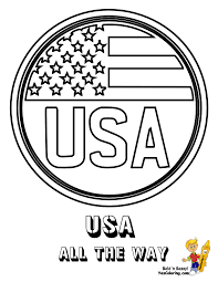 Fearless American Flag Coloring America Flags Free Military Coloring Pages Usa