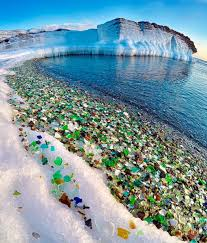 russian beach once used as dumping ground for glass now has