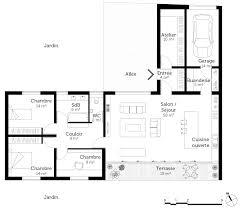plan plain pied 2 chambres plan de maison plain pied 2 chambres luxe de maison en l avec garage