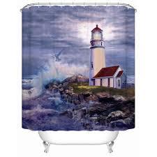 lighthouse shower curtain bath accessories
