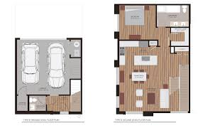Colored Floor Plans by Vaquita Townhomes At Lohi