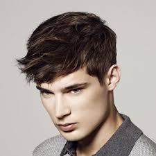shorter hairstyles with side bangs and an angle men s fringe hairstyles bangs for men