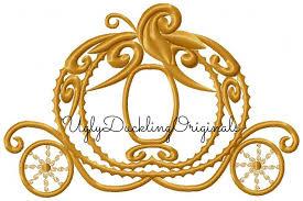 cinderella coach cinderella applique design coach carriage original artwork by