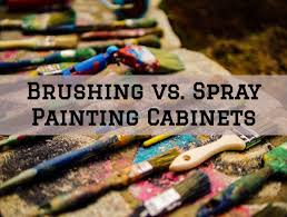 what type of paint brush for kitchen cabinets brushing vs spray painting cabinets in the woodlands