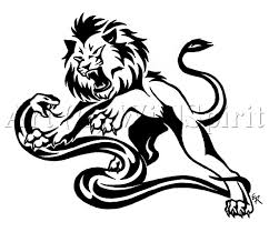angry tribal lion head tattoo design photos pictures and