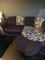 cuddle sofa and matching swivel cuddle chair in thirsk north