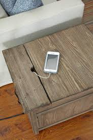 chairside table with charging station rustic weathered gray chairside table with power outlet by kincaid