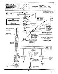 home depot kitchen faucet parts faucet parts